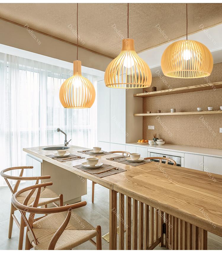Xu hướng sử dụng đèn gỗ trong thiết kế nội thất