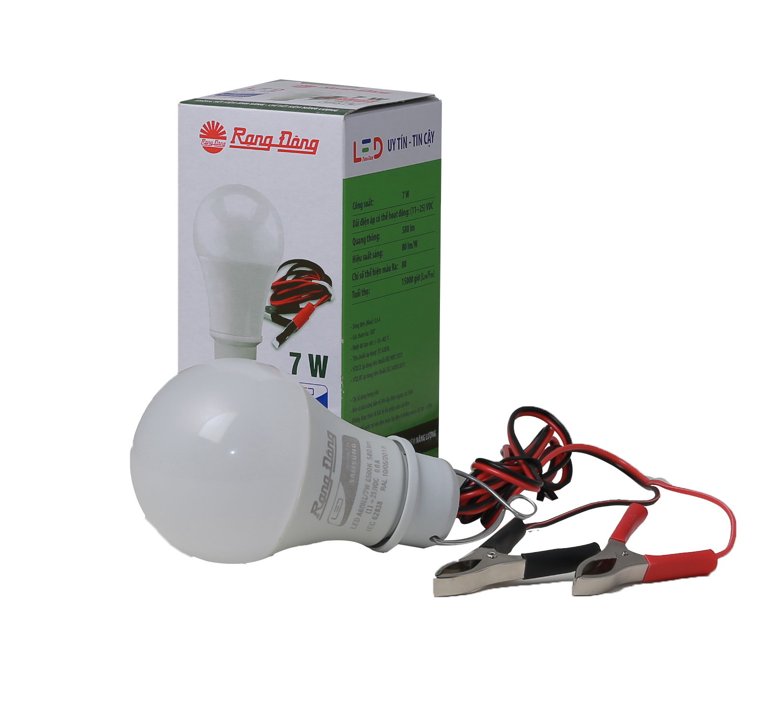 Bóng đèn LED Bulb A60N1 12-24 VDC 7W kẹp