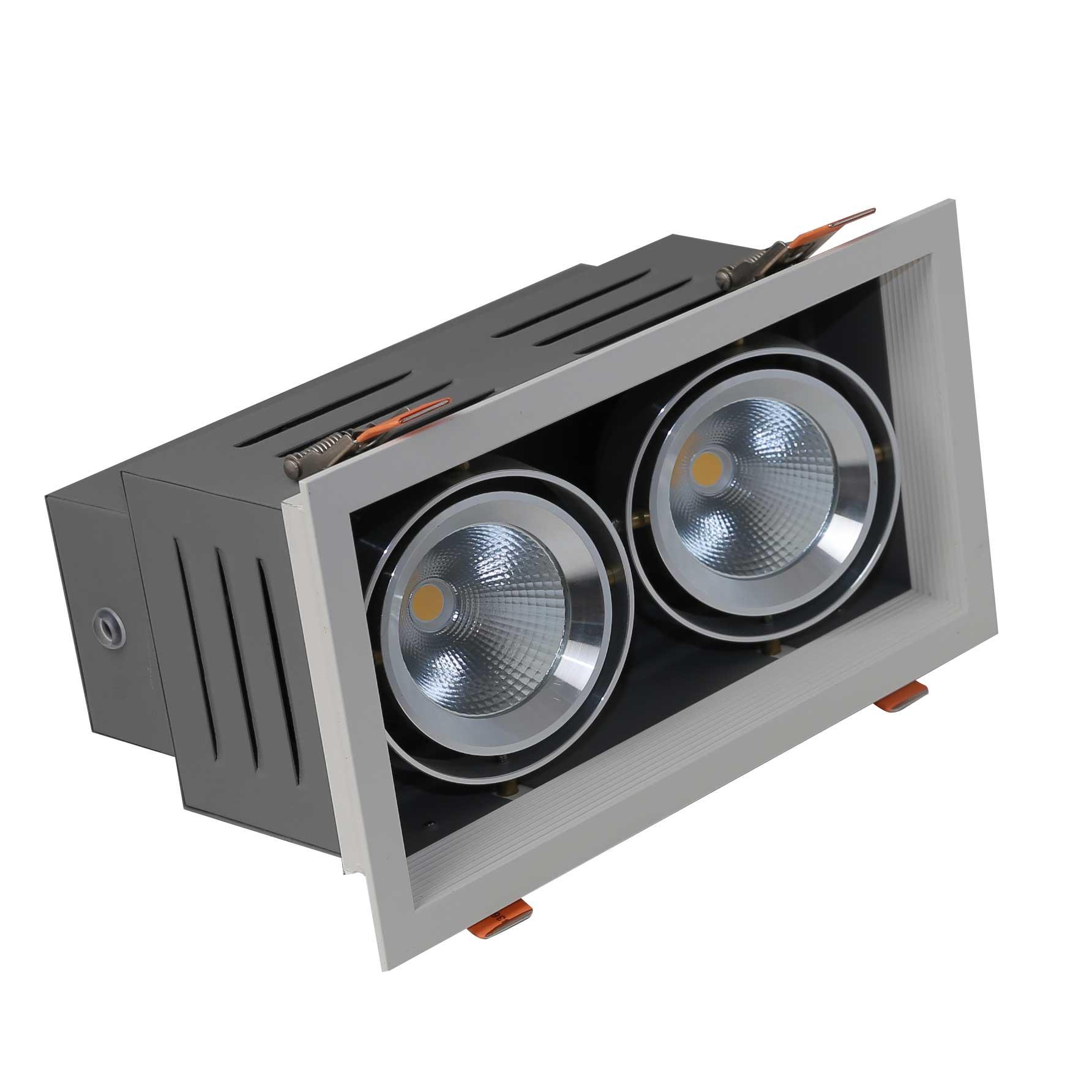 Đèn LED downlight D AT12L 240x125/9wx2.DA-4000K
